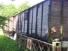 Le Blockhaus, trein wagons..