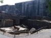 Le Blockhaus, zwaar getroffen door bommen.