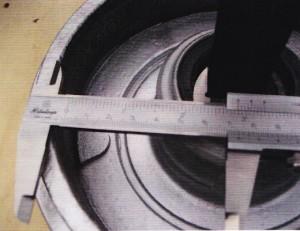 afstand meten tussen remschoen en trommel2